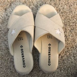 Converse All Star White Suede Sandals